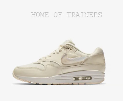 74c2c4da622fe Nike Air Max 1 Jelly Puff Pale Ivory Guava Ice White Girls Women s Trainers