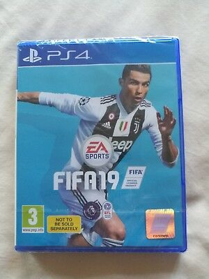 Brand new and factory sealed FIFA 19 game for PS4