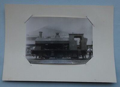 Old Original Photograph Port Talbot Railway Saddle Tank Loco No. 25 At Docks