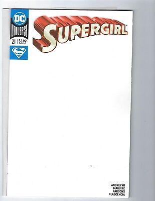 Supergirl  # 21 Blank Variant Cover NM DC