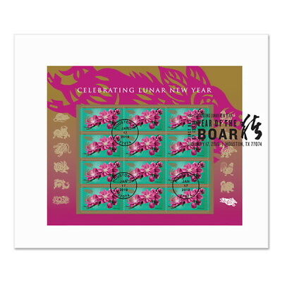 USPS New Lunar New Year:  Year of the Boar Full Pane First Day Cover