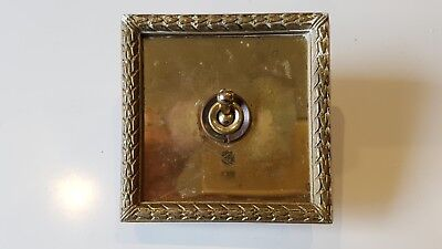 Two Way Vintage Brass Square Light Switch