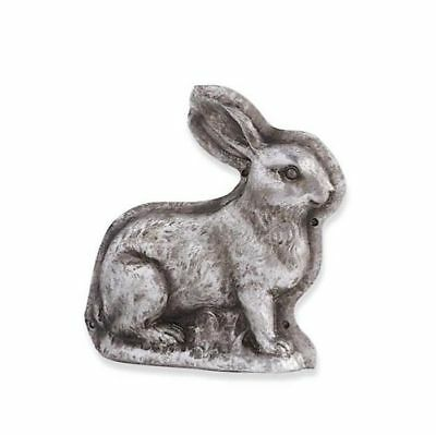 Vintage/ Primitive Chocolate Mold Sitting Easter Bunny Rabbit Antique Silver