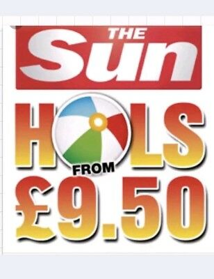 The Sun Caravan Holiday £9.50 All 10 Tokens and booking form needed to book it
