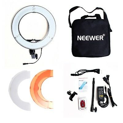 Neewer Ring Light, LED, Dimmable, 3200K-5500K w/ Remote ~ Video Light ~ NEW