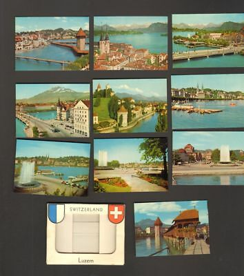 Undated Travel Souvenir Miniature Photographs Luzern Switerland
