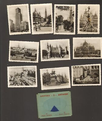 Undated Travel Souvenir Miniature 10 Photographs Anvers Antwerp No 1