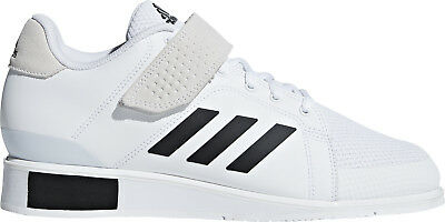 adidas Power Perfect 3 Mens Weightlifting Shoes White Bodybuilding Gym Trainers