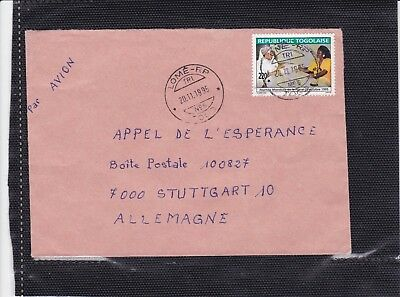 Togo 2379 WELT POST TAG BRIEF COVER LETTRE TOGOLAISE LOME JOURNEE MONDIALE