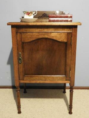 Vintage Art Deco French Provincial Bedside Lamp Side Hall Table Cabinet Cupboard
