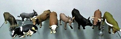 Ten Solid Farm Animals, Displayed Only, For Hobbiest Or Education Or Farmer