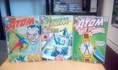 The Atom #1, #2, #3 July 1962 to November 1962 Low Grade