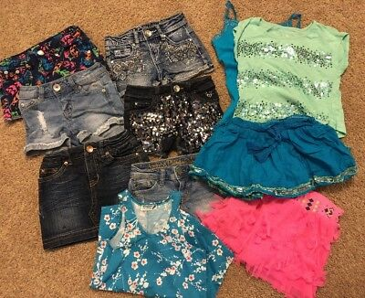 Justice Lot Shorts 7S And Outfits 7 - 11 Pieces