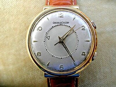 1949 18K Solid Gold Jaeger Lecoultre Memovox Alarm, Hooded Lugs, Cal. 489.