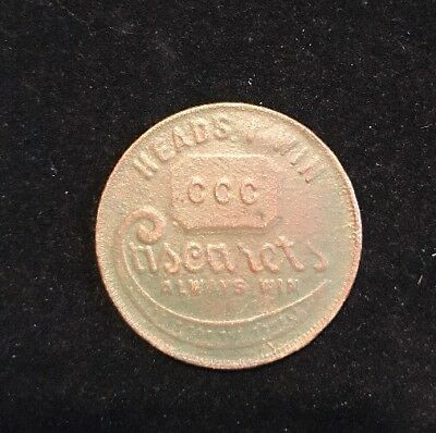 Cascarets Laxative Token Boy Angel On Potty Heads I Win Tails You Lose Coin (B12