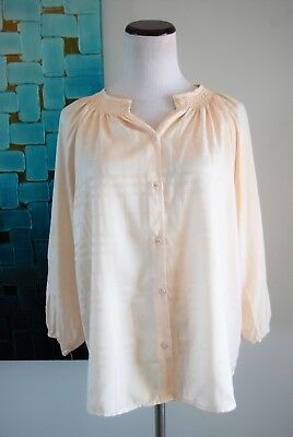 511976f68 Tucker For Target Womens Button Down Shirt Blouse Size Small Beige 3/4  Sleeve