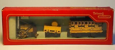 Stephenson's Rocket 1829 by Tri-ang Railways with box, instructions and stoker