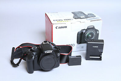 Boxed Canon EOS 1100D 12.2MP DSLR Camera (Body Only) in Mint Condition 1k Shots