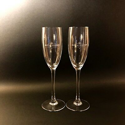 Set of 2 Moet and Chandon Champagne Flutes