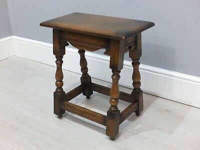 Antique Style Old Charm Oak Coffin Stool Joint Side Table (281)