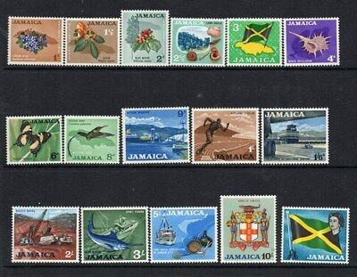 Stamps Jamaica 1964-68 definitives mint lightly hinged