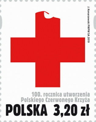 2019 Poland 100th anniversary of the creation of the Polish Red Cross + gratis