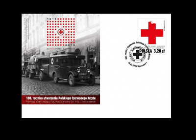 2019 Polen FDC 100th anniversary of the creation of the Polish Red Cross +gratis