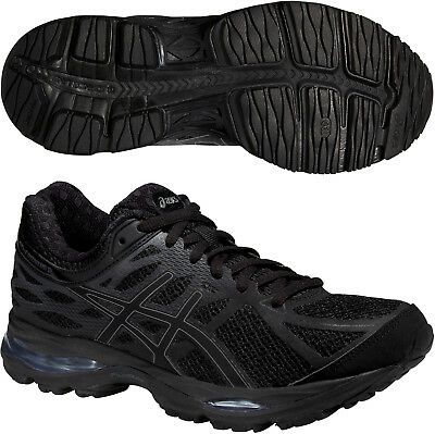 9657c5f4d6d6a ASICS Gel Cumulus 17 Womens Cushioned Running Sports Shoes Trainers Black