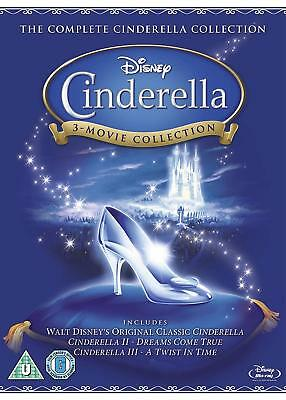 Cinderella 1-3 Trilogy Collection (Blu-ray, 3 Discs, Region Free) *NEW/SEALED*