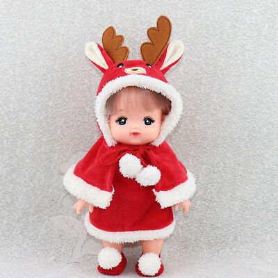 Adorable Plush Cartoon Overcoat Dress Cloak Outfits for Mellchan Baby Dolls