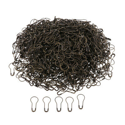 500Pcs Pear Shaped Metal Safety Pins Brass Safety Pins Length (21mm) Bronze