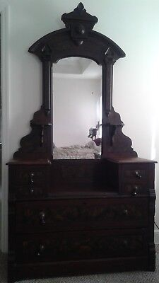 Antique Victorian Eastlake Style Dresser