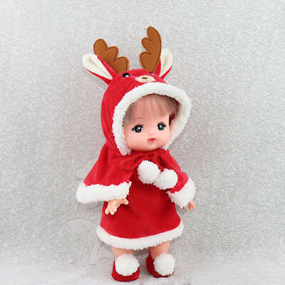 Cute Mini Fashion Doll Outfit Xmas Party Clothes for Mellchan Baby Girl Doll