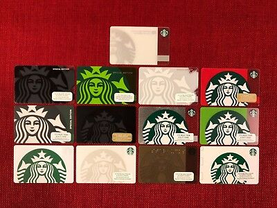 13 New Starbucks Various Siren Gift Cards Lot Special Edition 40Th Anniversary
