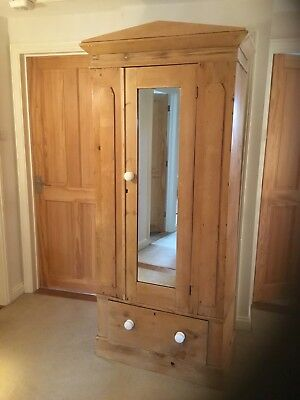 Antique Pine Wardrobe, Children's single wardrobe, pre-loved!
