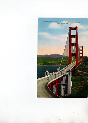 Golden Gate Bridge San Francisco To Marin County   California Post Card