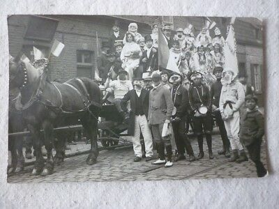 carte-photo Tourcoing attelage carnaval fête