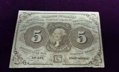 1862 US Fractional Currency 5 Cent Note - Postage Currency