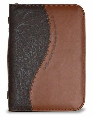 Call To Me and I Will Answer You Bible Cover, Chocolate and Brown, X-Large
