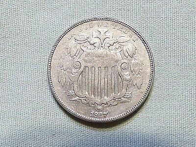 1867 Shield Nickel 5 Cent United States Coin - Item 462