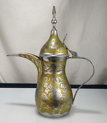 Vintage Brass Islamic Dallah Coffee Pot    -  54580