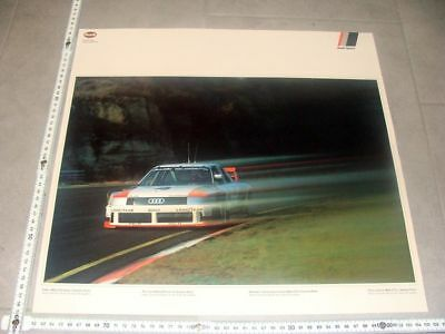 P15. Orig. Poster Audi Sport 90 quattro IMSA GTO USA 1989 Summit Point Stuck
