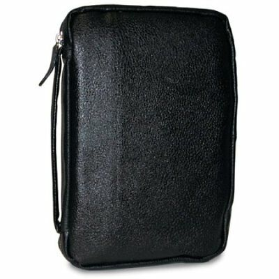 Leather Bible Cover, Black, XX Large