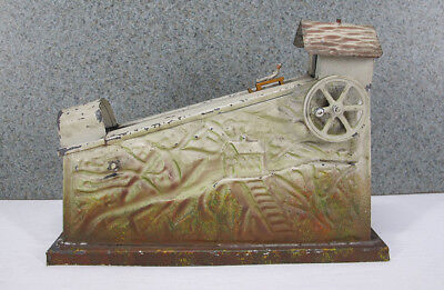 Antique Doll & Cie LIVE STEAM Engine Tin Luge Sled Rider Articulated Toy #41 yqz