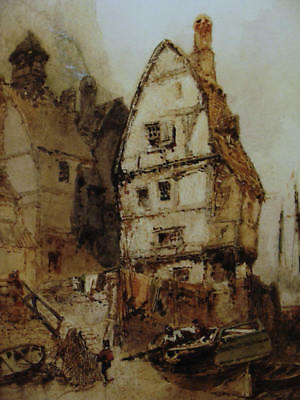 Paul Marny 1829-1914, Normandie-Szene, Aquarell, um 1890