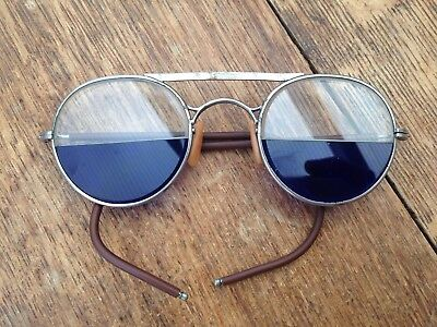 Vintage Bausch & Lomb Antique Split Lens Steampunk Glasses Rare