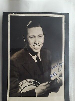 George Formby autographed pic