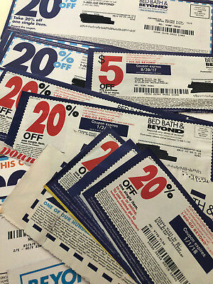 Lot 25 Bed Bath & Beyond Coupons 20% Off and $5 off $15 $10 off $30 BBB