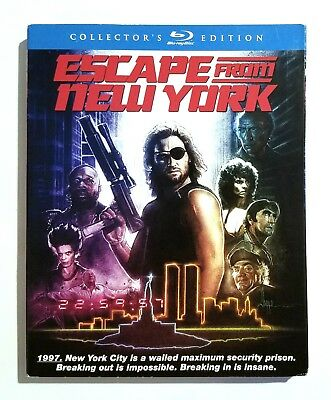 Escape From New York (1981) 2-Disc Collector's Edition Blu-ray with SLIPCOVER!