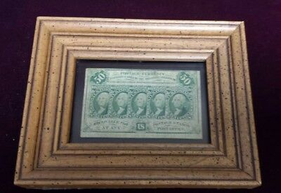 1862 US Fractional Currency 50 Cent Note - Postage Currency in Frame